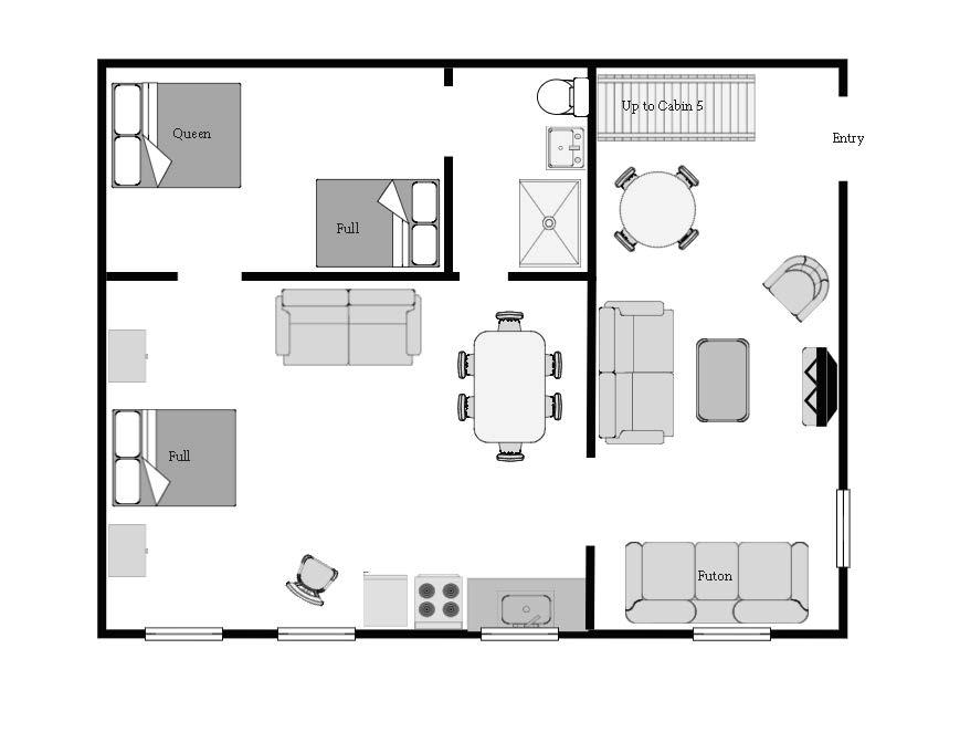 downstairs floor plan