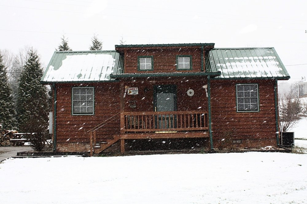 Catfish Cabin in winter
