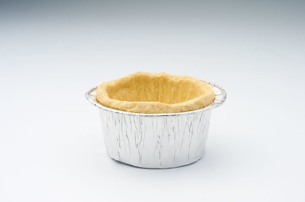 "1.5 "" Short Plain Pastry Cups in Tin Product code - FF5010T Flavour           - Sweet & savoury Dimensions    - 6.0 x 3.2 cm 200 units per box"