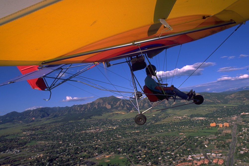 Ultralight over Boulder, Colorado for The New York Times