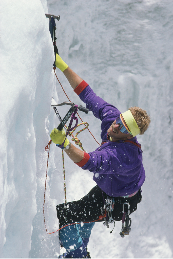Ice climbing in Boulder Canyon