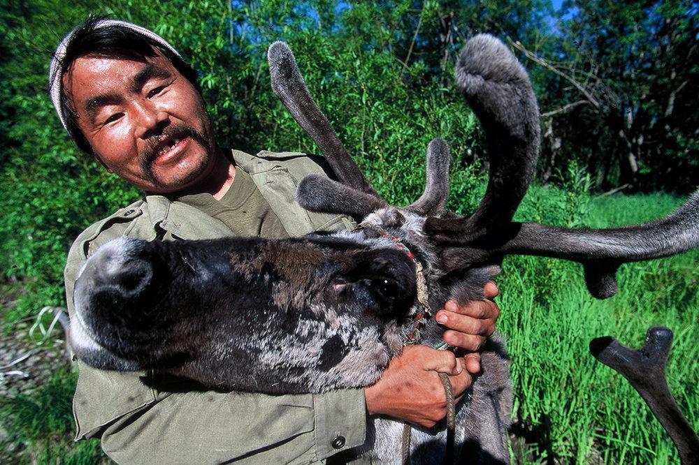 Mongol reindeer herder in Kamchatka, Russia