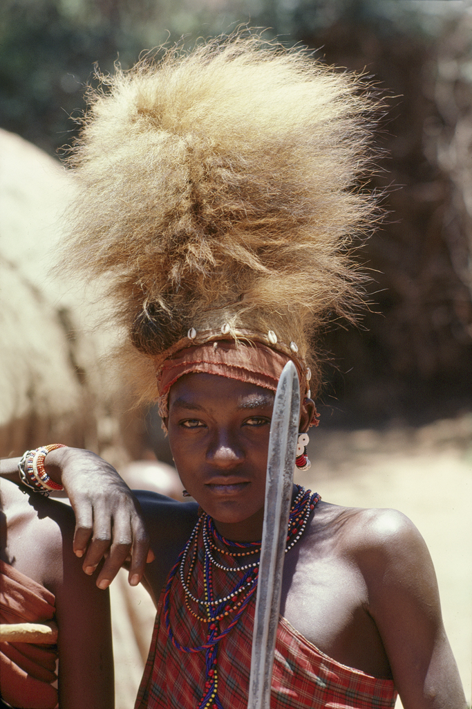 Young Masai warrior for National Geographic's World Magazine
