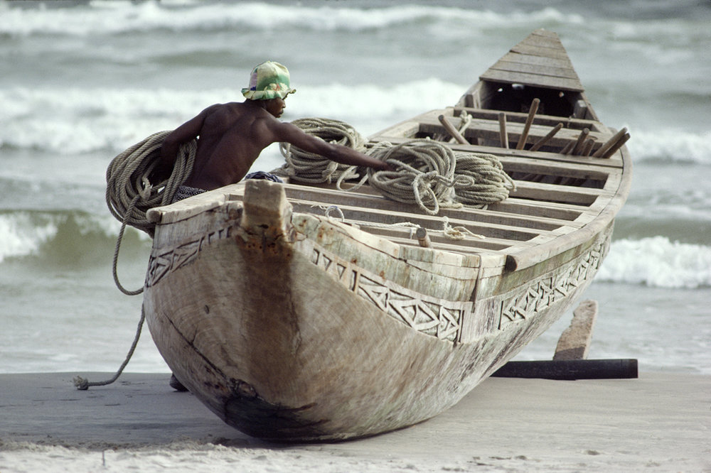 Fishing boat Ivory Coast, Africa