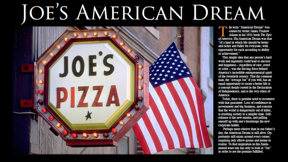 Joe's American Dream Project