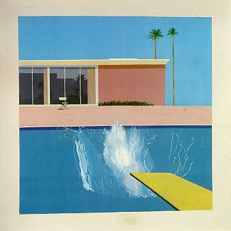 A Bigger Splash , David Hockney • Credit below.
