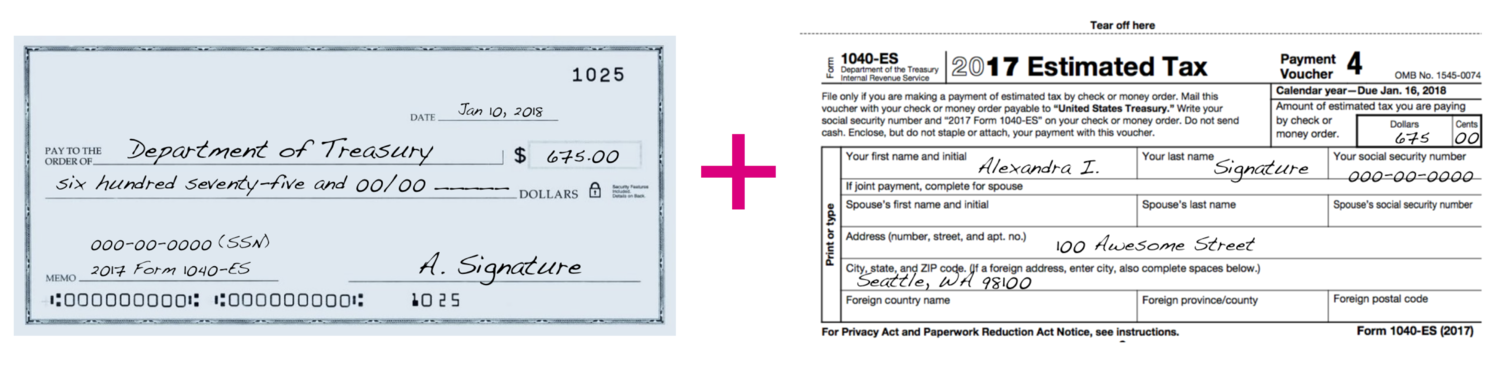 how to send in your estimated quarterly tax payment (eq$) to the irs