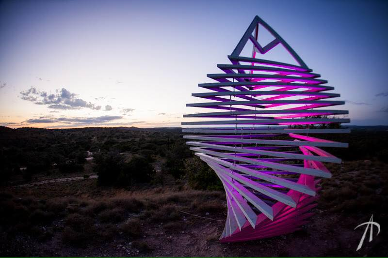 Sacred Tribe  will be bringing out their large multicolored sculpture consisting of individual triangular polygons framed out of wood that stack upwards while uniformly twisting in a helical path. Come climb and experience this multi-layered art piece. Sacred tribe is an Austin-based collective that produces art, sculpture, and jewelry.