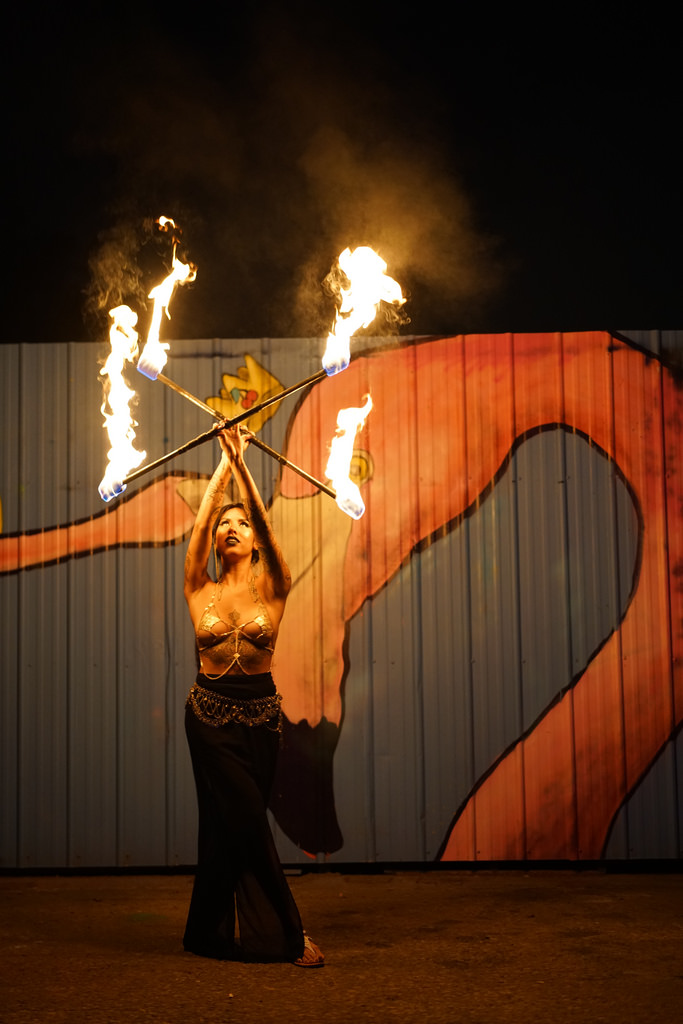Witness radiant fire performances Friday and Saturday nights brought to you by   Cherry Cola Dog  .