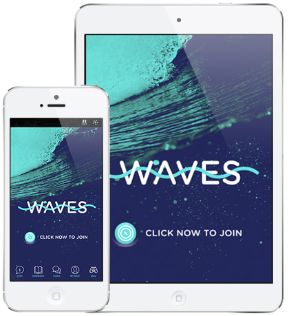 Download the WAVES IN ACTION mobile app