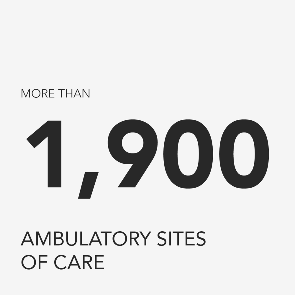 More than 1,900 ambulatory sites of care