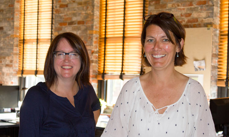 Founding partners of City Studios Architecture, Deanna Heil (right) and Chantelle Noble (left)