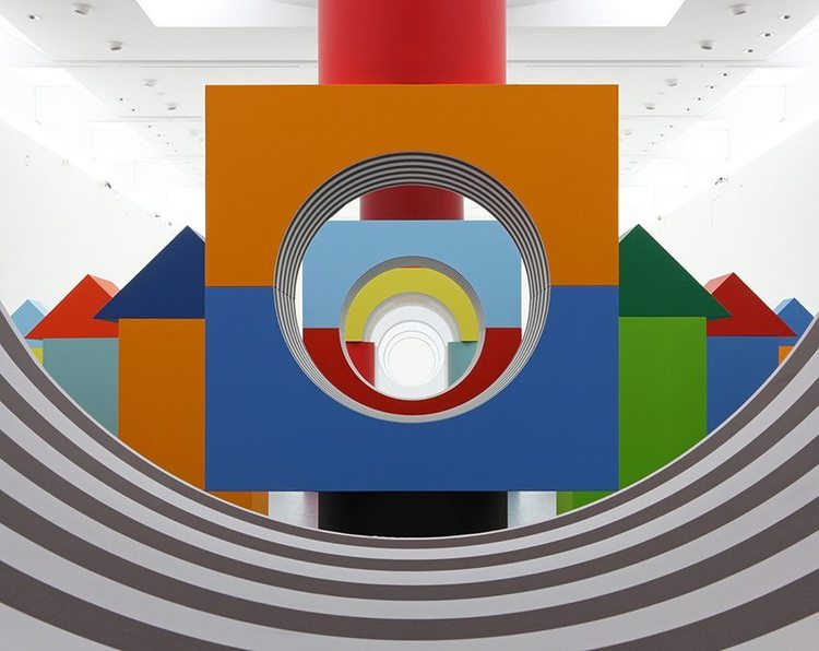 Daniel Buren – Child's Play Exhibition, Naples