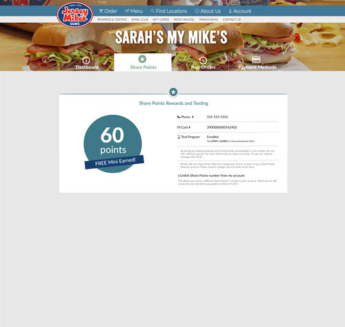 jersey mikes shore points balance