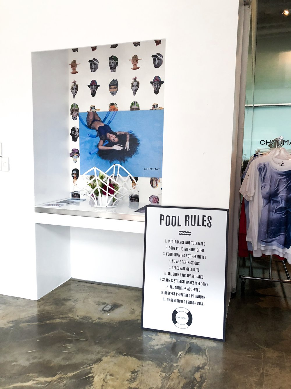 Pool Rules at the Chromat Pop Up