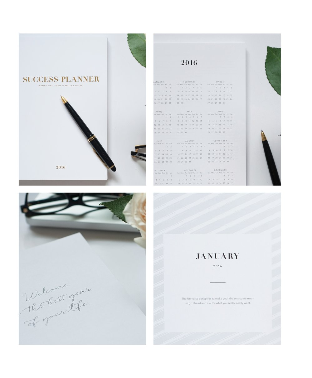 Copywriting of a calendar year, Success Planner.
