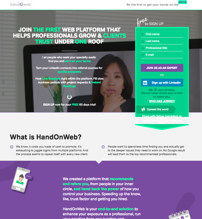 B2B SAAS - Hand On Web