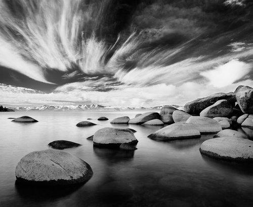 Dream Lake Tahoe Black White Photo By Large Format Landscape