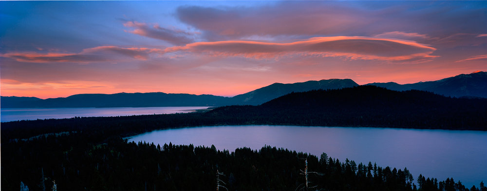 Sunset Over Fallen Leaf Lake, Lake Tahoe