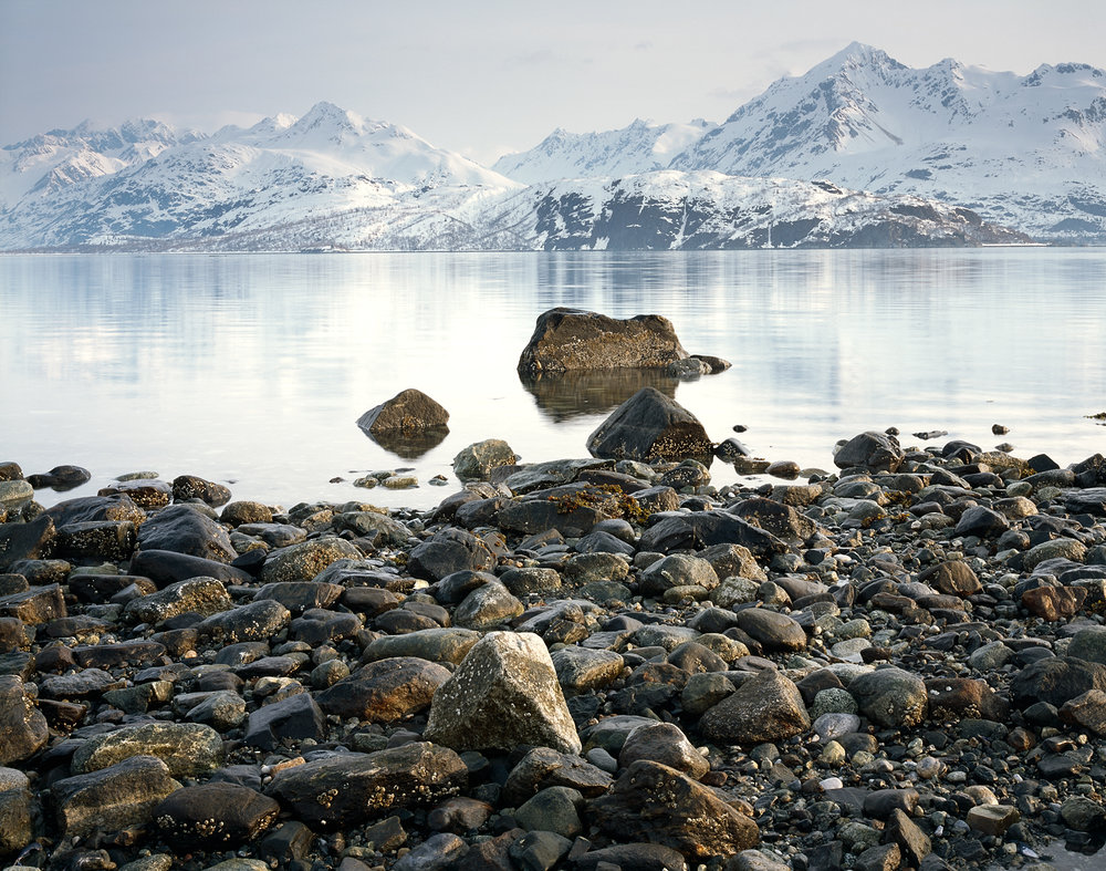 Rocky Shoreline, Glacier Bay Reflection, Alaska