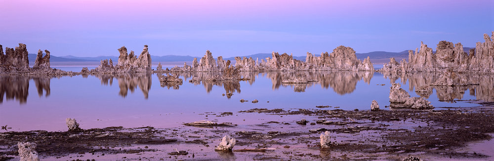Mono Lake Dusk Panorama, Mono Lake, California