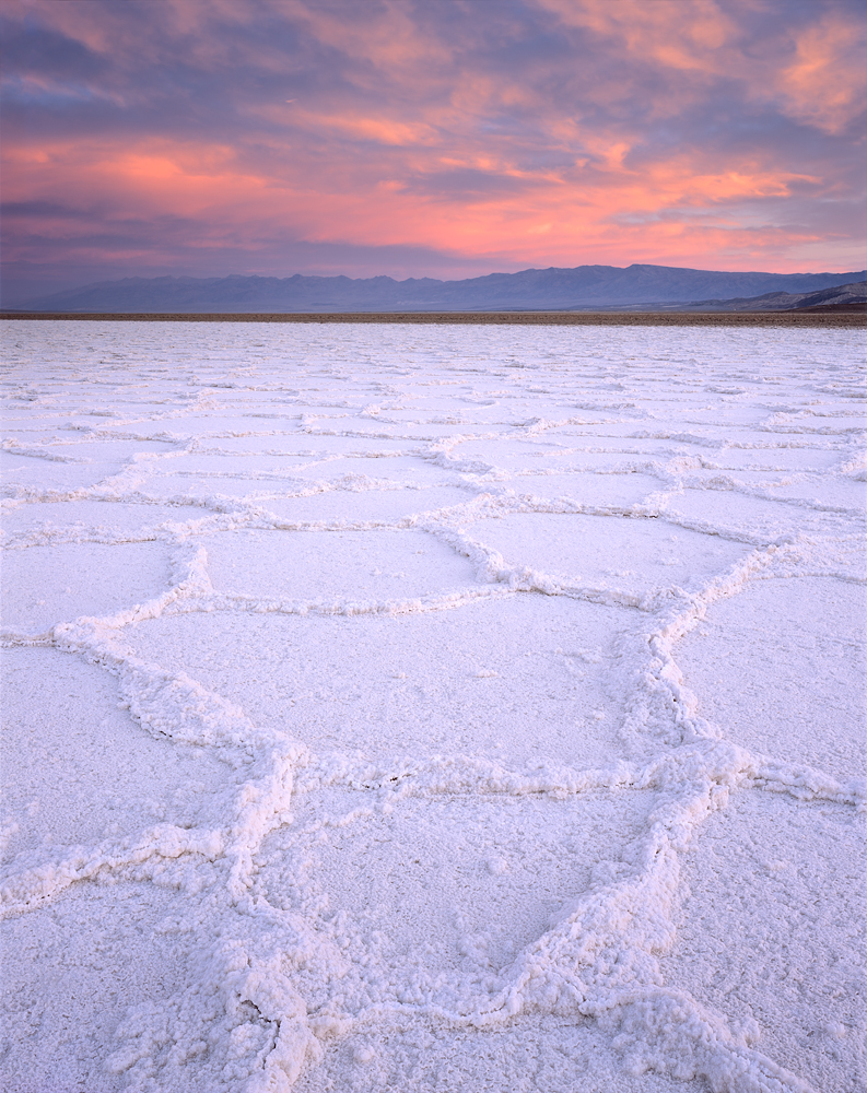 Salt Polygon Sunrise, Death Valley, California