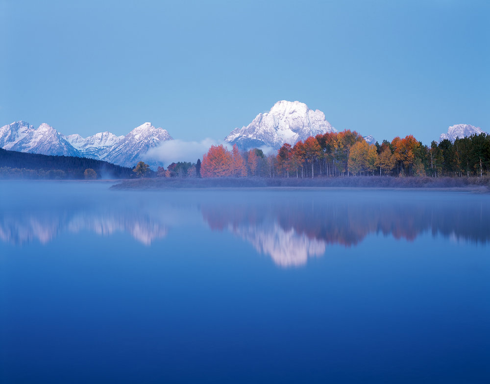 Misty Dawn, Oxbow Bend, Grand Tetons