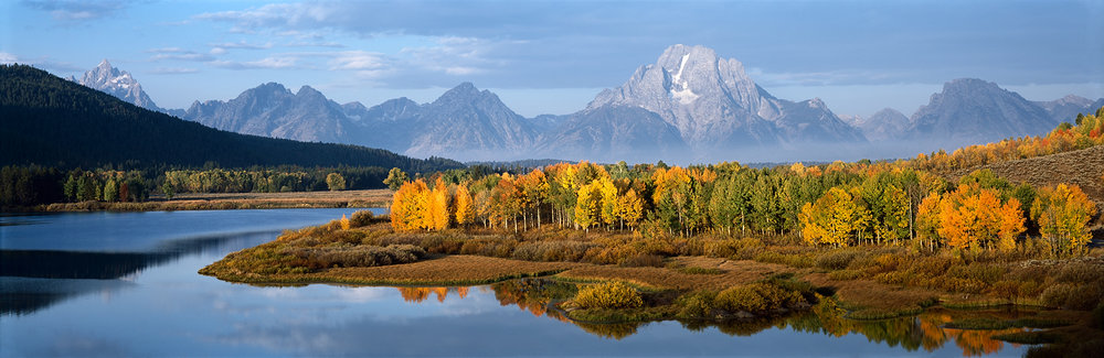 Oxbow Bend, Mount Moran and the Grand Teton