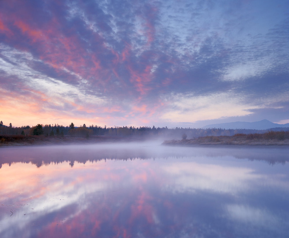 Sunrise, Misty Reflection, Oxbow Bend, Grand Tetons