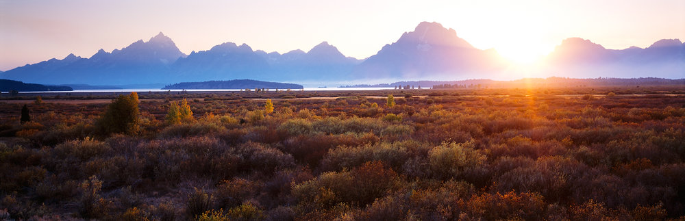 Sunset Glow, Willow Flats, Grand Tetons