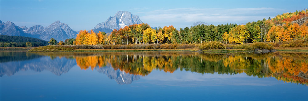 Oxbow Bend Fall Reflection Panorama