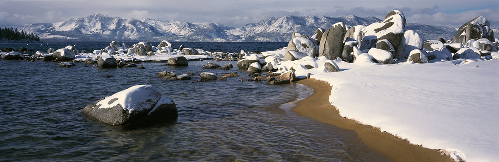 Zephyr Cove Winter Panorama, Lake Tahoe