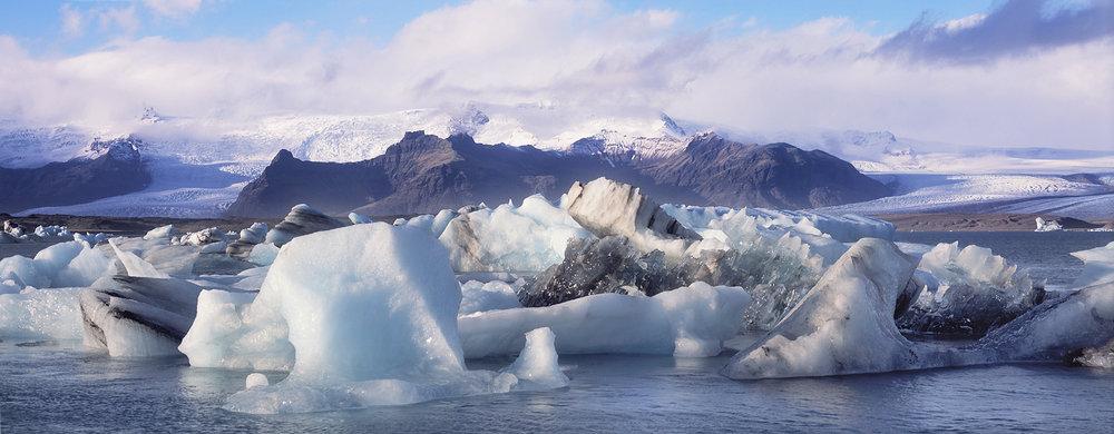 Iceberg Jam Panorama, Jokusarlon, Iceland