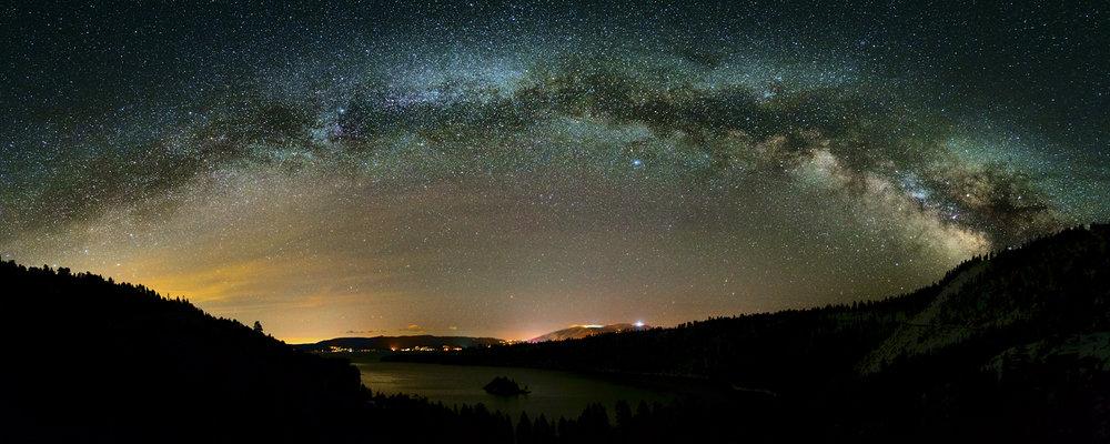 Milkyway Over Emerald Bay, Lake Tahoe
