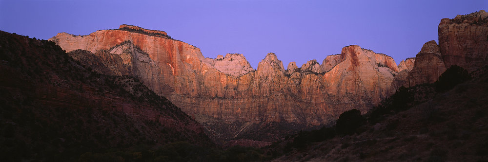 Towers of the Virgin Sunrise Panorama, Zion National Park, Utah