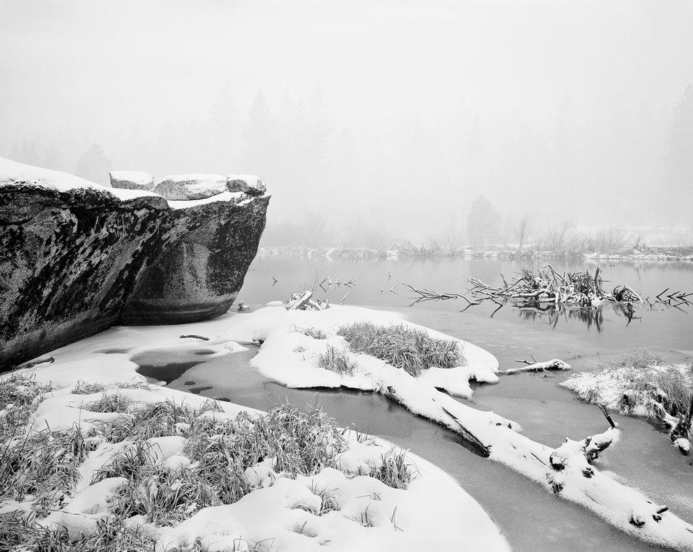 Beaver Pond Snowfall BW 4x5.jpg