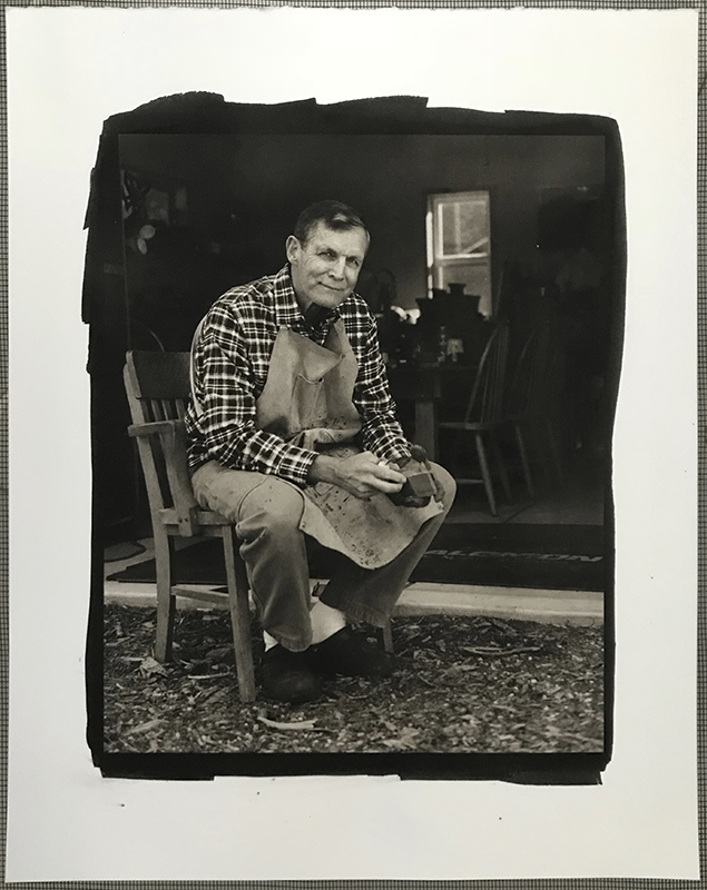 Lifestyle Portrait captured with a professional digital camera. Platinum / Palladium print created from a digitally printed negative.