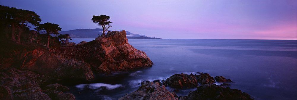 Lone Cypress Sunset Panorama