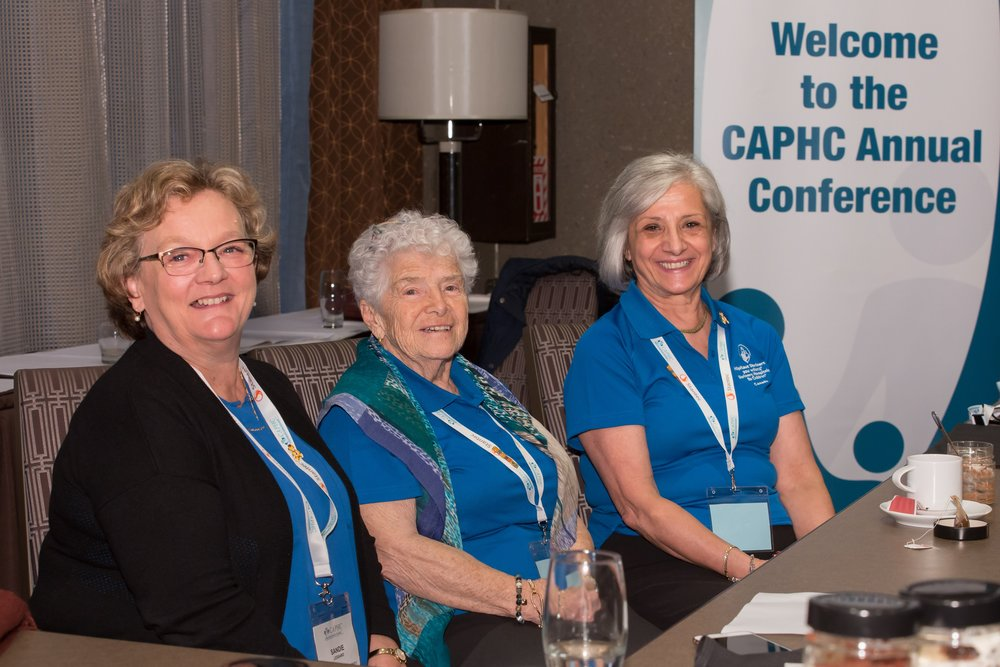 Sandie Lessard, CAPHC Bookkeeper, and two of our amazing Volunteers. Photo: Dufour/Egan