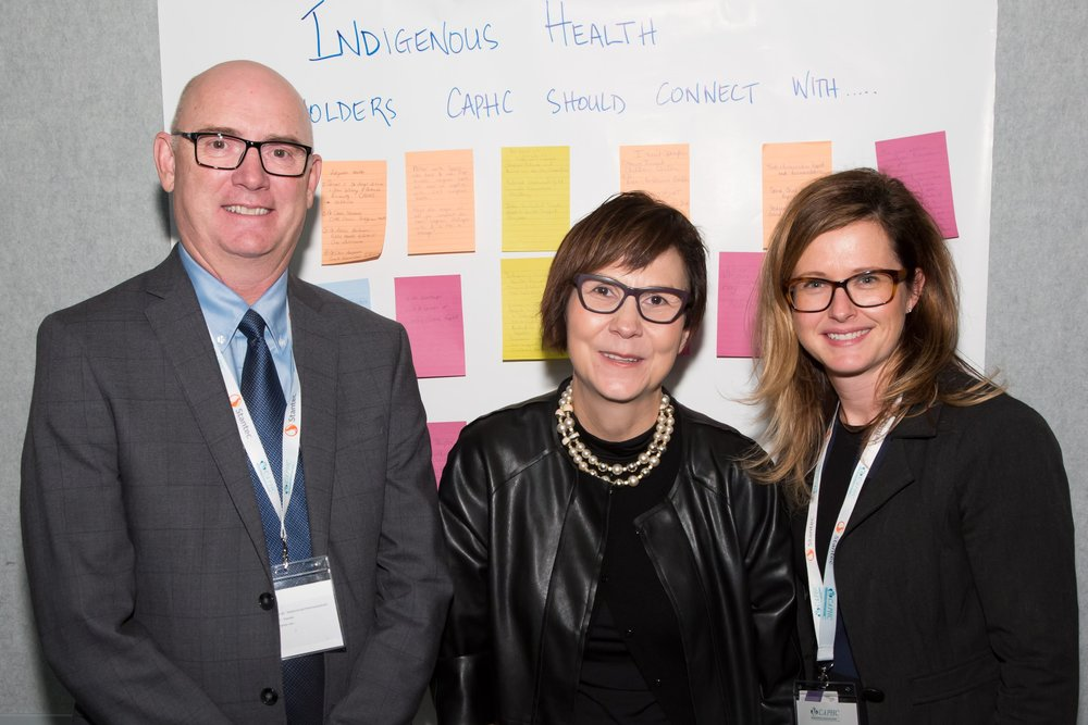 Dr. Peter Fitzgerald, Dr. Cindy Blackstock, and Emily Gruenwoldt - Photo: Dufour/Egan