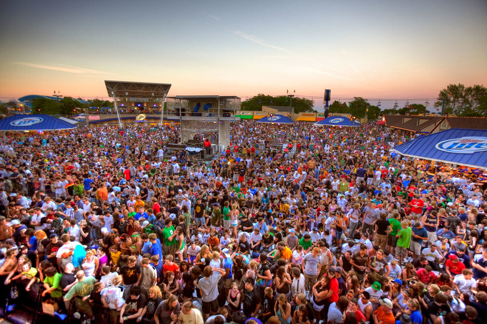 Milwaukee Summerfest is the Worlds biggest Music Fest.