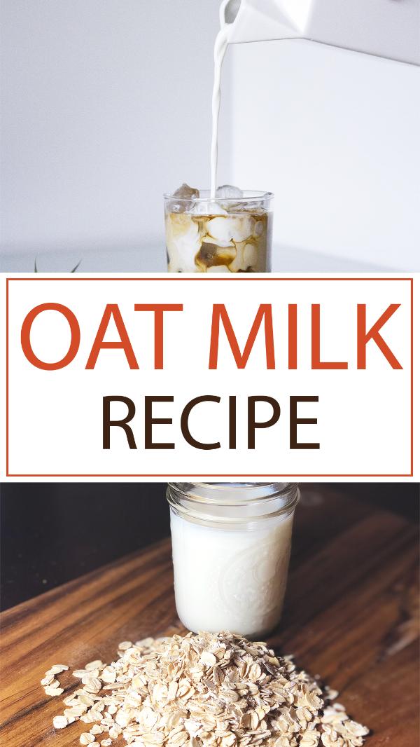 Easy & Delicious Oat Milk Recipe. Make non-dairy, vegan milk at home! #OatMilk #VeganMilk #DairyFree