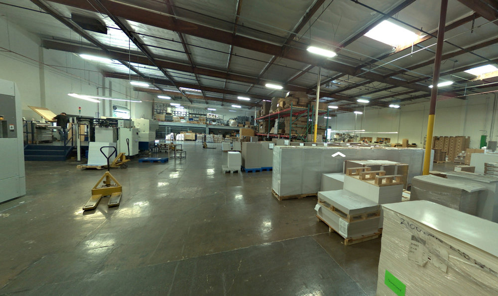 Die Cutting & Packaging Area