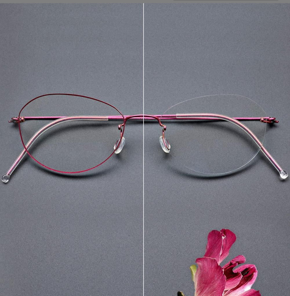 Thin rim or completely rimless the choice is yours.
