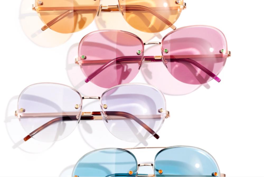 Gold, Pink, Purple & Blue Sunglasses