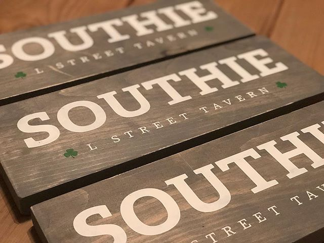 Another batch of signs are on their way to L Street Tavern in Southie! ☘️ . . . #ackermancreativeco #lstreettavern #southie #southboston #boston #sign #woodsign #signmaking #etsy #etsyshop #heatherackermancreative
