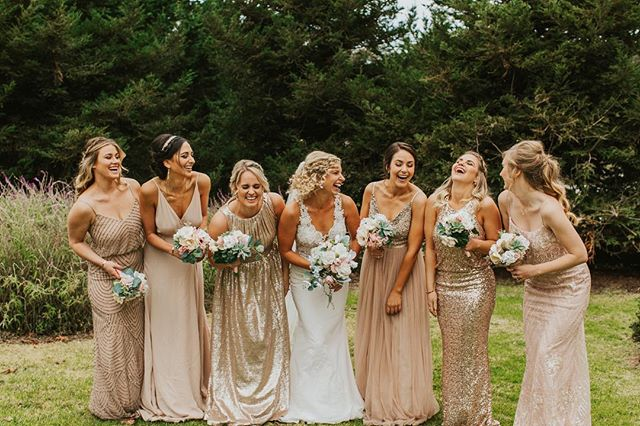 Squad Goals! The next best thing after getting married to the love of your life is spending a day with all your favorite girls. Some that you've known a lifetime and some that joined your life as you were finding who you were. There are many reasons why your wedding day is the Best Day Ever! . . . Photographer @samantha.josette || Video @patmanang || Entertainment @dj_bob_stock || Hair and Makeup @bellizzimobeauty @alexmakeupart || Dress @moondancebridal || Flowers mother of the bride || Caterer @popolo_catering || Venue @theheritageestates . . #squadgoals #bridesmaids #bestdayever #bestgirls #sloweddings #weddingplanner #sanluisobispoweddingplanner #simpleweddingdesign #sloweddingplanner #heritageestatewedding #thosetans #bridesquadgoals  #weddingday
