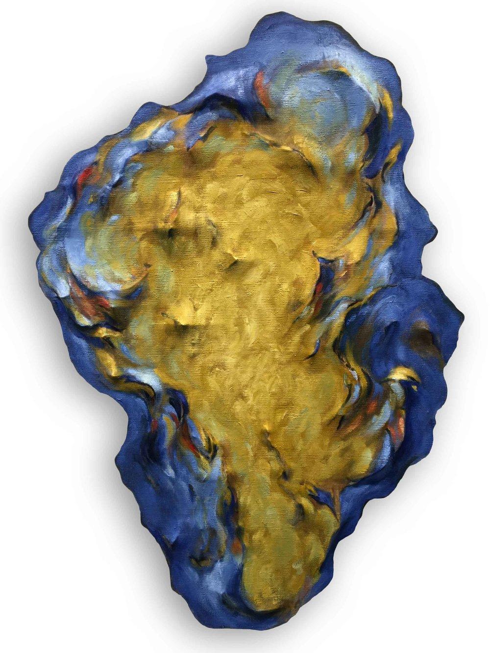 Untitled (Ochre and Cobalt Blue)