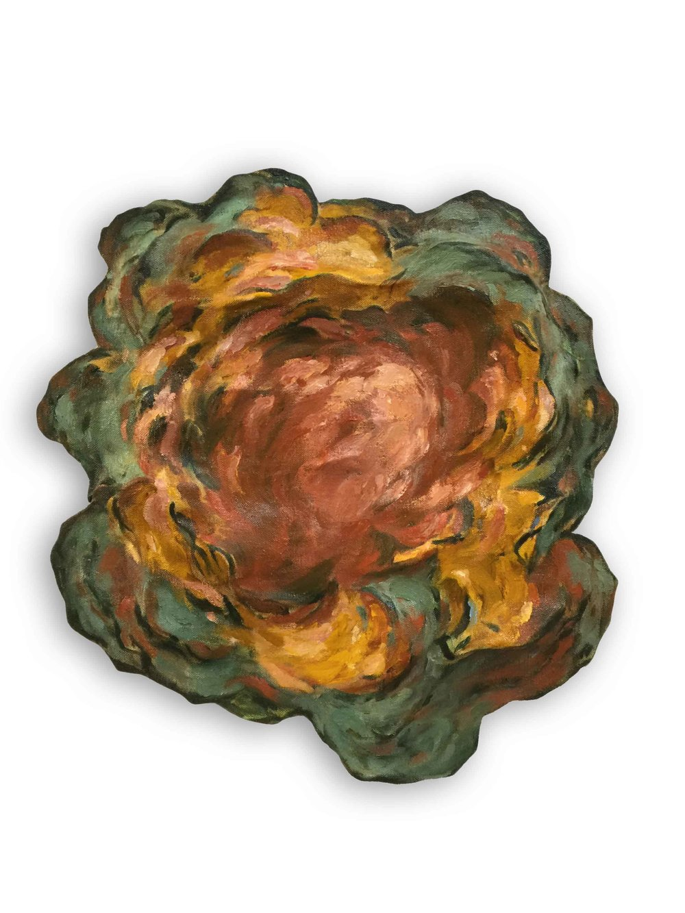 Untitled (Orange and Green)