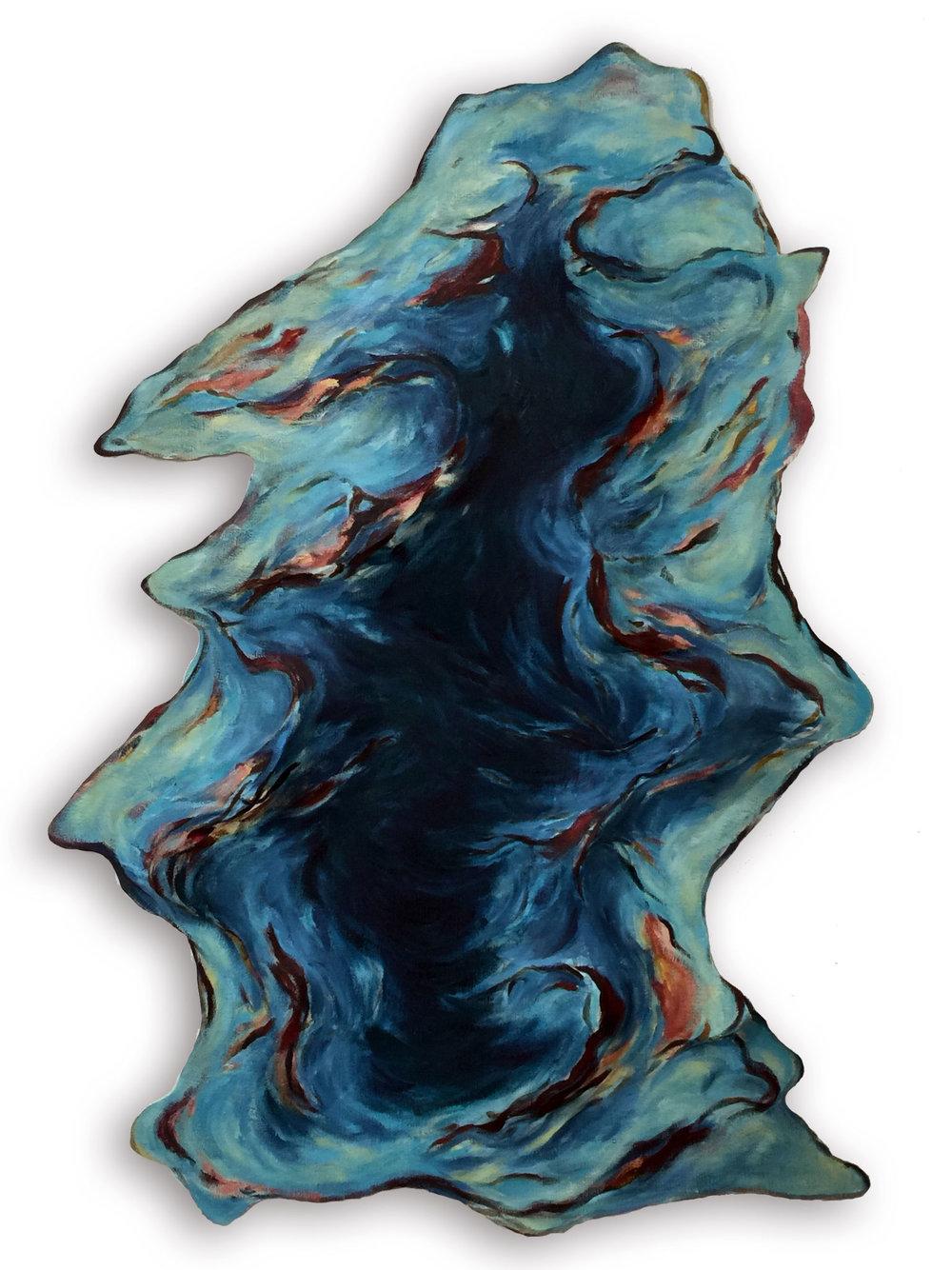 Untitled (Blue Evergreen)